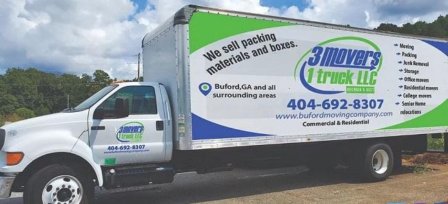 """3 Movers 1 Truck LLC"" Truck"