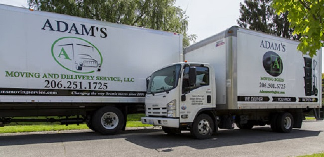 """""""Adams Moving & Delivery Service, LLC"""" Truck"""