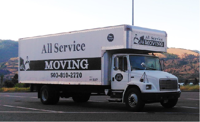 """""""All Service Moving"""" Truck"""