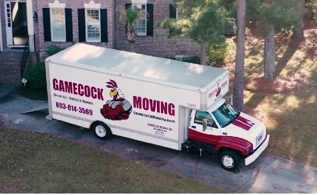 """""""Gamecock Moving"""" Truck"""