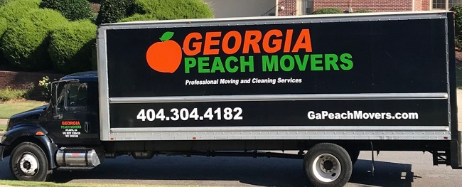 """Georgia Peach Movers"" Truck"
