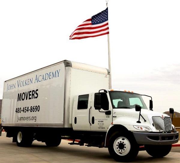 """""""John Volken Academy Movers"""" Truck"""