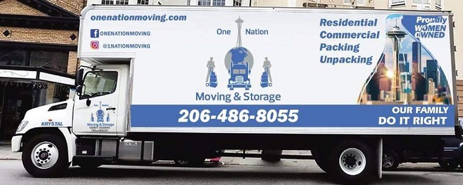 """""""One Nation Moving & Storage"""" Truck"""