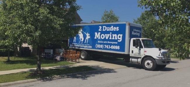 """""""2 Dudes Moving"""" Truck"""