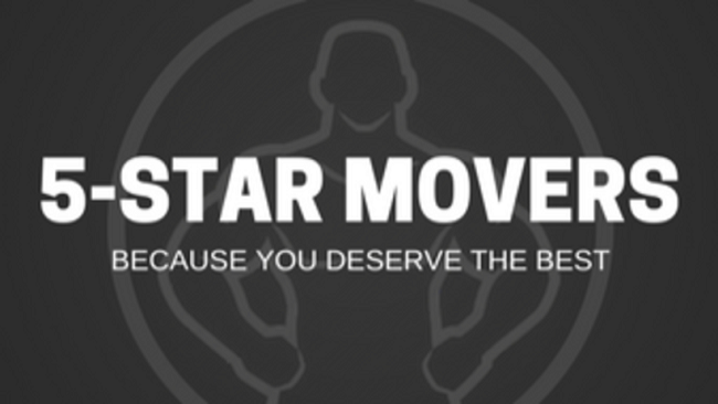 """""""5-Star Movers"""" Logo"""