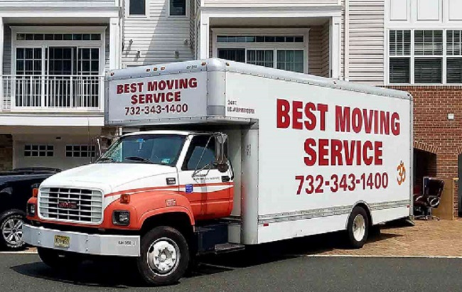 """""""Best Moving Services"""" Truck"""