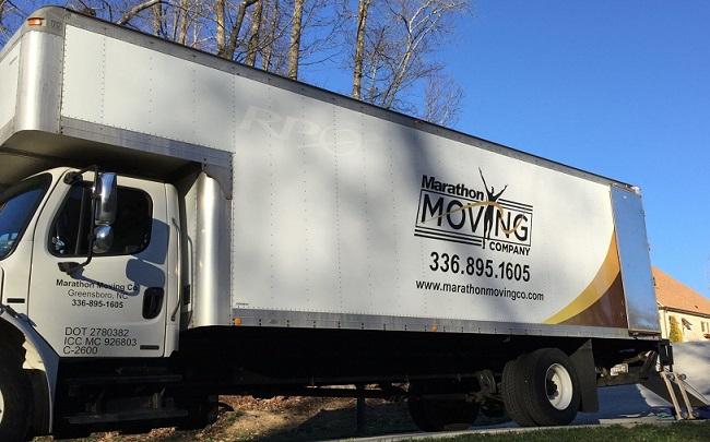"""Marathon Moving Company of Greensboro NC"" Truck"