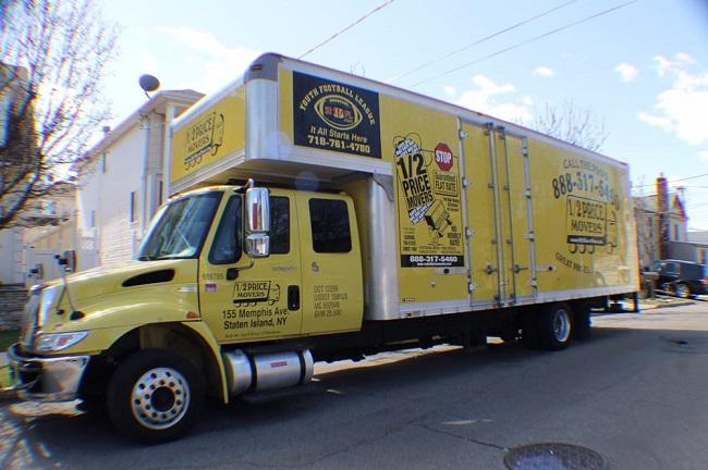 """1/2 Price Movers Staten Island"" Truck"