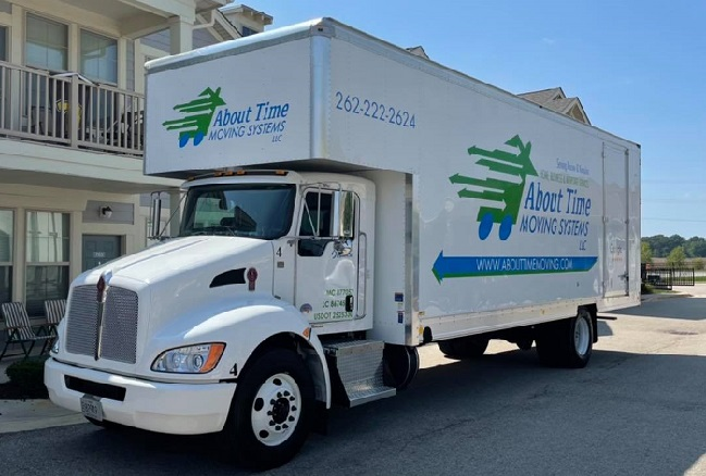 """""""About Time Moving Systems LLC"""" Truck"""