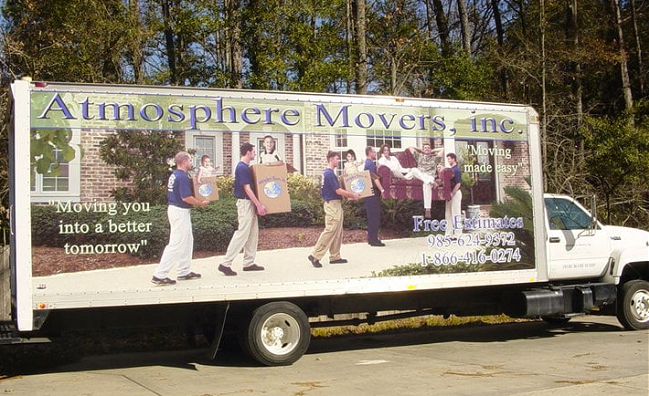 """""""Atmosphere Movers"""" Truck"""
