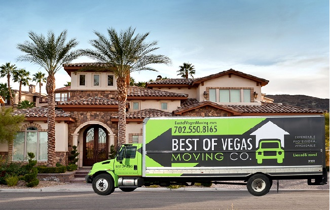 """""""Best of Vegas Moving Company"""" Truck"""