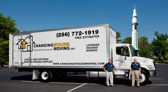"""""""Changing Spaces Moving Inc."""" Truck & Staff"""