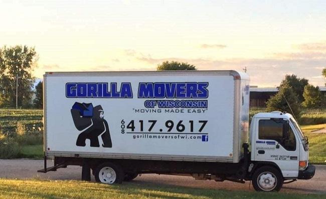 """Gorilla Movers of Wisconsin"" Truck"