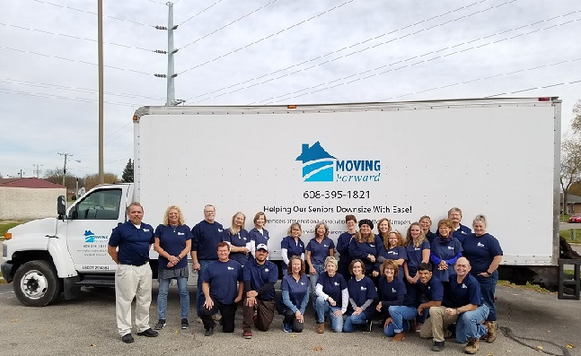 """""""Moving Forward Senior Move Managers"""" Truck"""