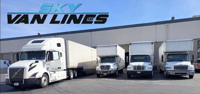 """""""Sky Van Lines"""" Truck"""