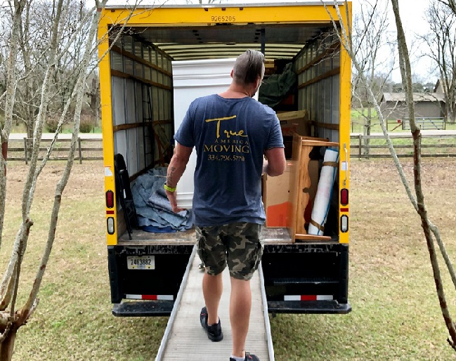 """""""True America Moving"""" Truck & Staff"""